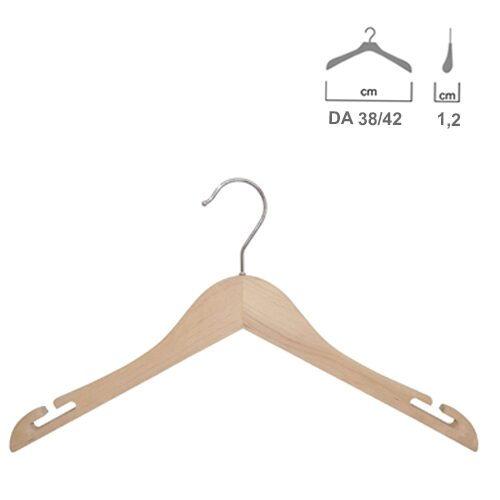 Grucce Capo spalla in legno Faggio Naturale con spacchi99013RBW