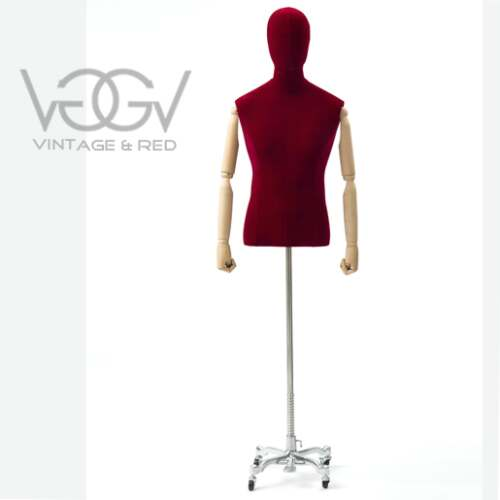 BUSTO UOMO IN VELLUTO RED