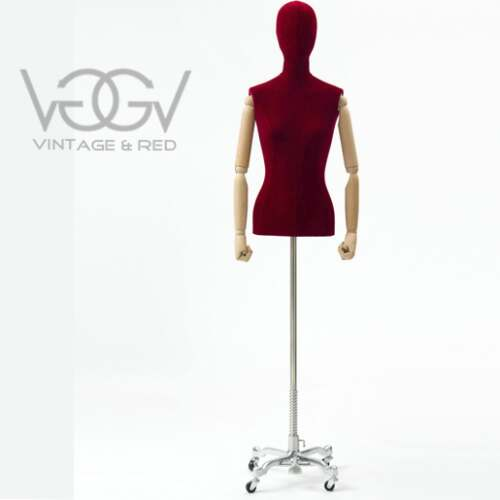 BUSTO DONNA IN VELLUTO RED
